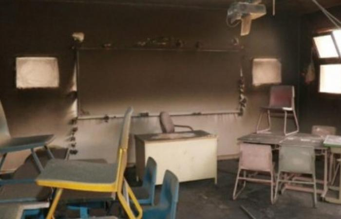 طالب سعودي يحرق فصله الدراسي لسبب مُخيف