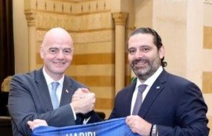 الحريري استقبل رئيس الفيفا ووفد الاتحاد اللبناني لكرة القدم