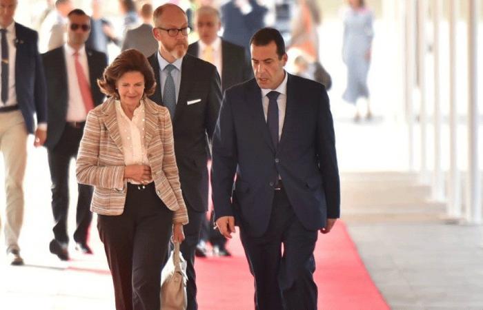 ملكة السويد في بيروت