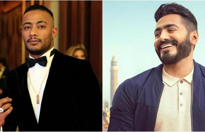 تامر حسني ومحمد رمضان في صدفة غريبة على إنستغرام.. ما هي؟