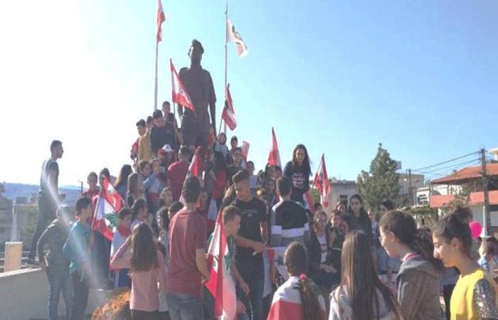 مسيرة طالبية احتجاجية في رميش (صور)
