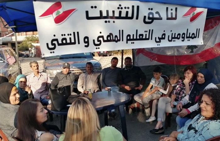 مياومو المهني ينضمون إلى ساحة الاعتصام في طرابلس