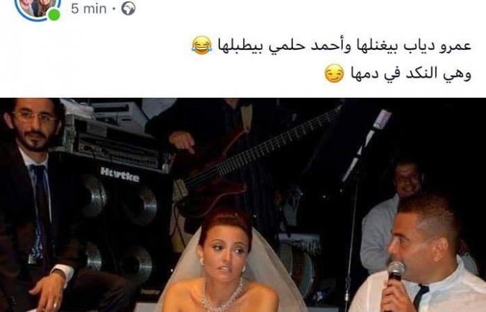 """بشرى """"منكدة"""" بصورة مع عمرو دياب وأحمد حلمي.. وهكذا ردّتْ!"""