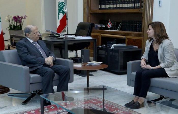 عون اطلع من بستاني على مسار عملية التنقيب عن النفط والغاز