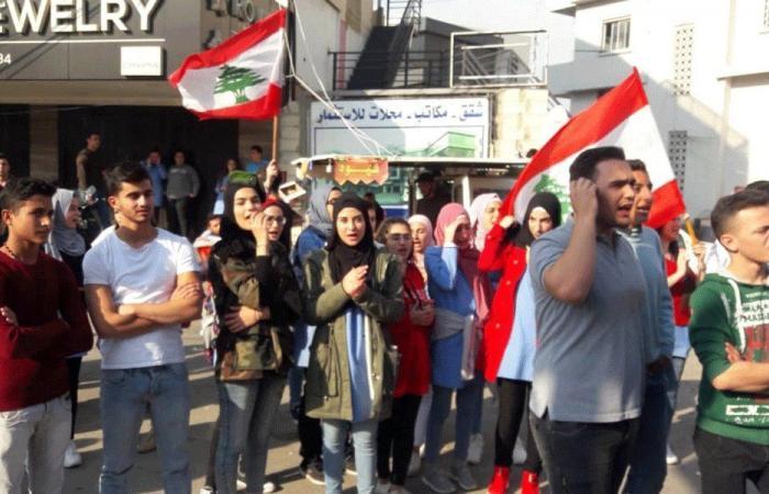 مسيرة لحراك طلاب عكار جابت شوارع حلبا