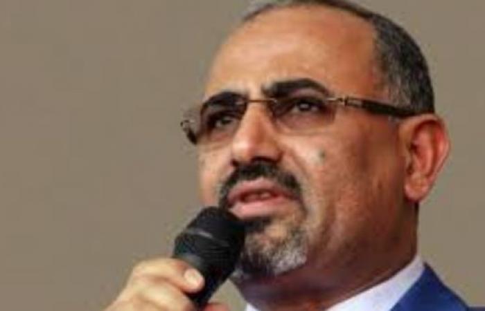 """اليمن   الزبيدي: يجب توجيه كافة الجهود لتنفيذ """"اتفاق الرياض"""""""