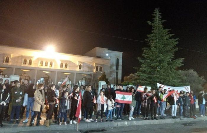 تظاهرة أمام سراي الهرمل