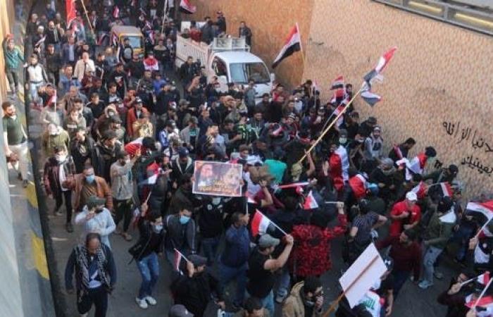 العراق | تظاهرة في بغداد.. أنصار الأحزاب في ساحة التحرير