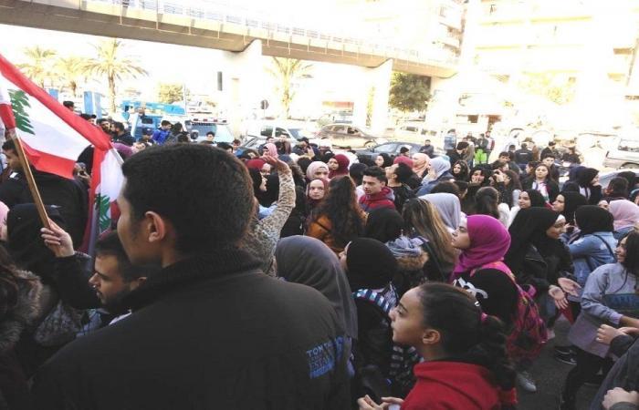 مسيرة طالبية في البداوي