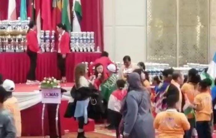 الخليج   استقبال التوأم السعودي بعد فوزه بيوسي ماس بماليزيا (فيديو)