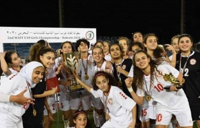 عودة منتخب لبنان لكرة القدم للشابات الفائز ببطولة غرب آسيا