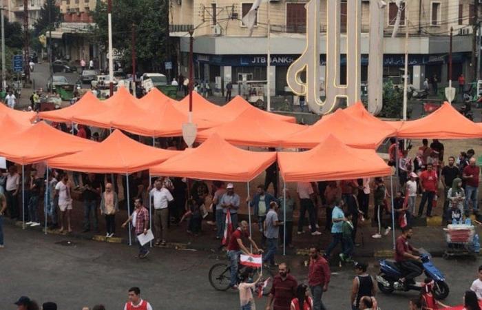 خيمة أمام مالية طرابلس.. وتظاهرة لمحاسبة الفاسدين