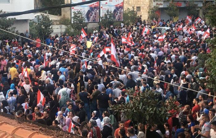 النبطية: إعتصام أمام قصر العدل وأزمة غاز في عزّ البرد