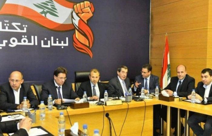"""تكتل """"لبنان القوي"""": لبنان لن يكون ارض معركة للآخرين"""