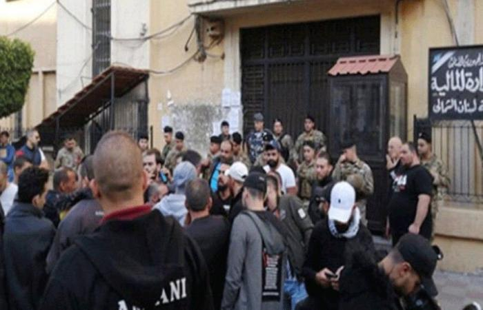 اعتصام أمام مالية طرابلس