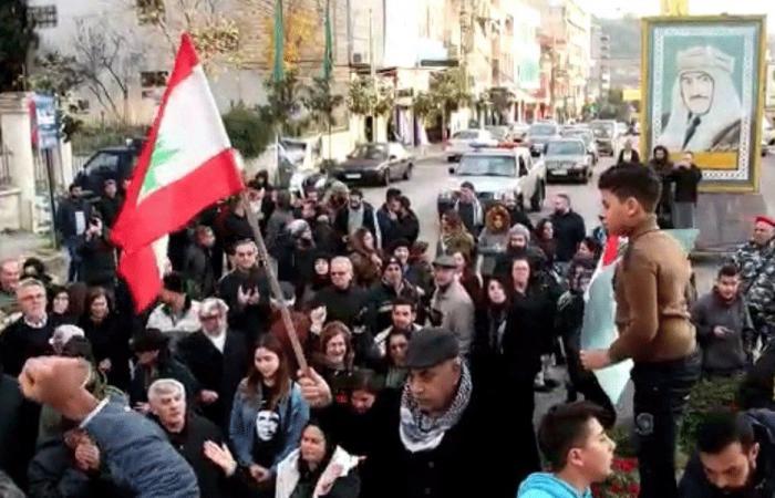 اعتصام لحراك النبطية وكفررمان احتجاجًا على تقنين الكهرباء