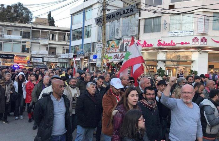 مسيرة في النبطية احتجاجًا على تقنين الكهرباء