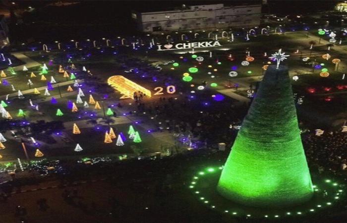 شجرة الميلاد في شكا تنضم إلى غينيس!