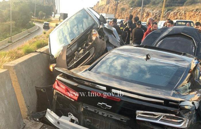 5 جرحى بحادث سير على أوتوستراد الكازينو