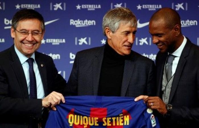برشلونة يقدم مدربه الجديد لوسائل الإعلام
