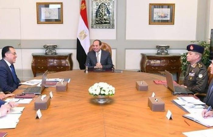 مصر   السيسي يبحث ملف سد النهضة ويطالب بحفظ حقوق مصر المائية