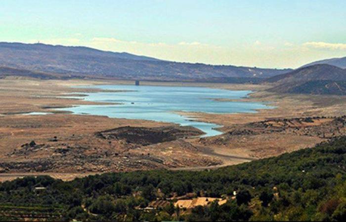 تعميم رسم بياني لمخزون المياه في بحيرة القرعون