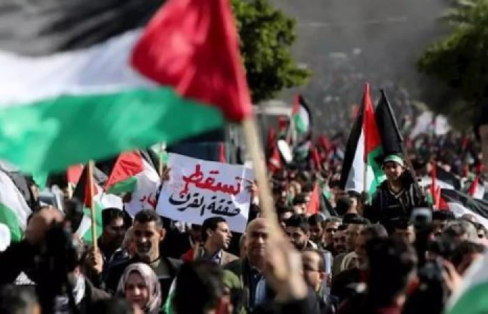 فلسطين   احتجاجات في الأردن ضد صفقة القرن