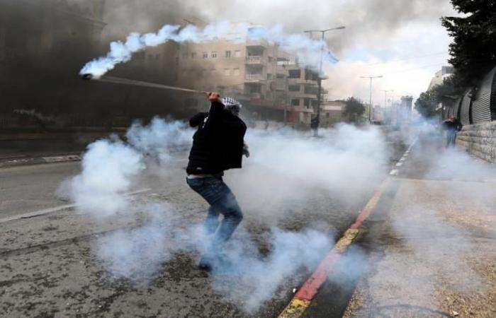 فلسطين   8 اصابات خلال مواجهات بمناطق متعددة بالضفة