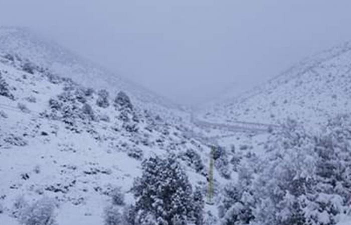ازالة الثلوج في عنايا لتسهيل وصول المؤمنين (صور)