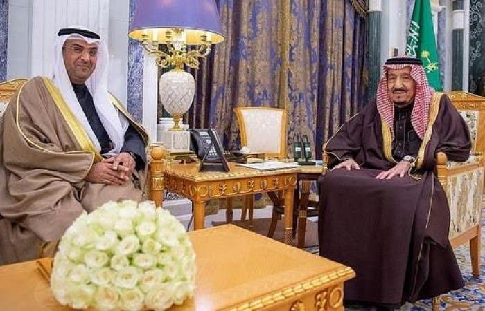الخليج | الملك سلمان يبحث الشأن الخليجي مع أمين عام مجلس التعاون
