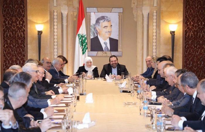 """الحريري ترأس اجتماعاً لكتلة """"المستقبل"""" في بيت الوسط"""