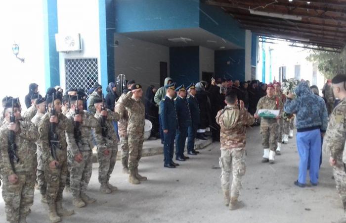 مراسم تشييع شهيدي الجيش عزالدين واحمد في الهرمل