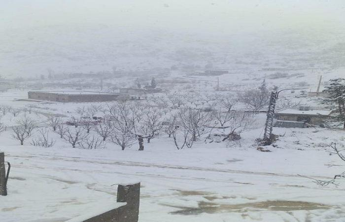 الثلوج في مرجعيون على 700 متر