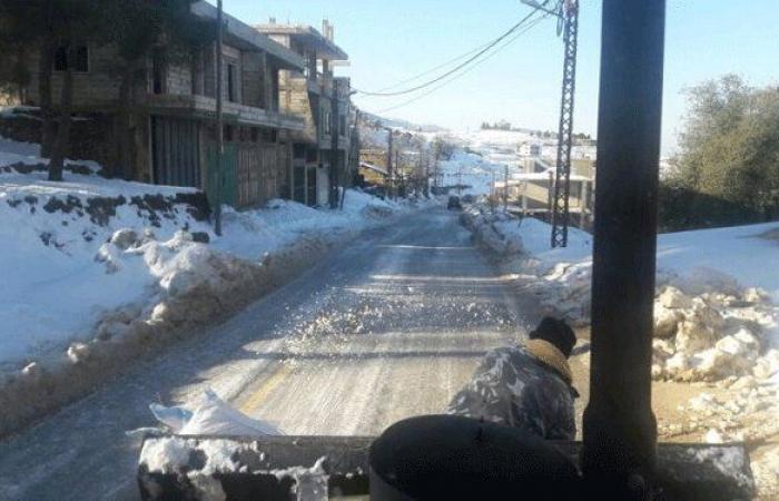 موجة من الجليد ضربت قرى حاصبيا