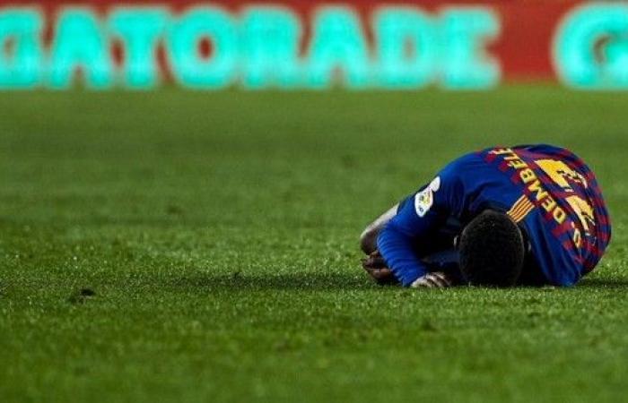 برشلونة يعلن غياب ديمبلي لمدة 6 أشهر