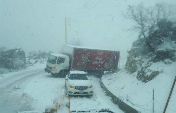 هذه هي الطرقات السالكة والمقطوعة بسبب تراكم الثلوج