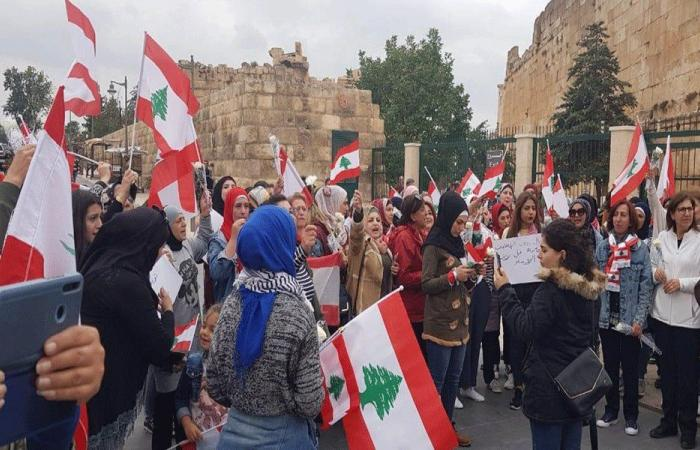 في بعلبك..مسيرة تحية لروح أحمد توفيق