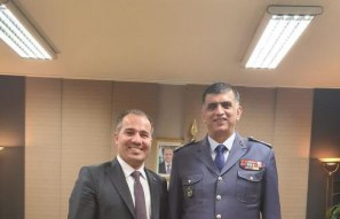 منسق عام تيار المستقبل في البقاع الأوسط رئيس بلدية مجدل عنجر سعيد ياسين في زيارة اللواء عثمان