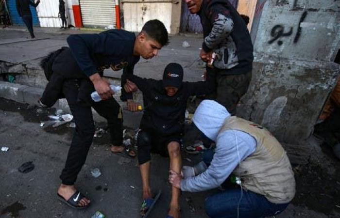العراق   توافد المتظاهرين إلى بغداد.. واشتباكات في الخلاني