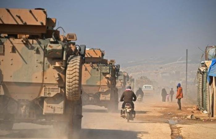 سوريا | بعشرات الآليات.. رتل عسكري تركي جديد يدخل إدلب
