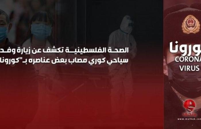 """الصحة الفلسطينية تكشف عن زيارة وفد سياحي كوري مصاب بعض عناصره بـ""""كورونا"""""""
