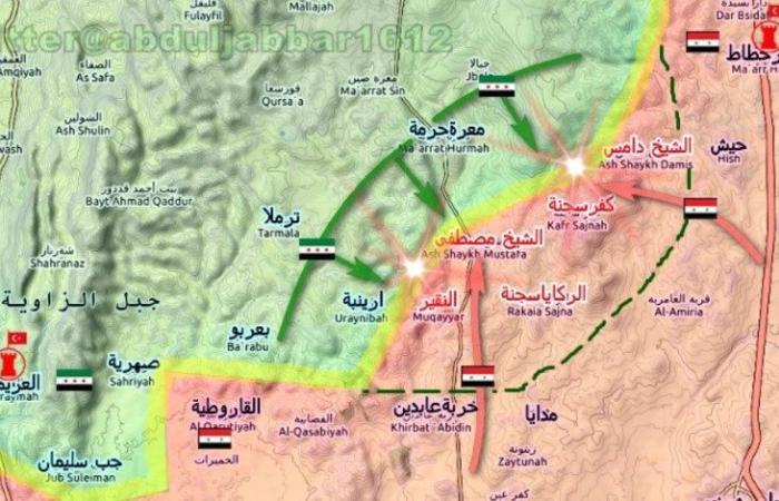 سوريا   ميليشيات بشار الأسد تتقدم في ريف إدلب الجنوبي و تسيطر على مناطق جديدة .. و تركيا تنشئ 4 نقاط عسكرية