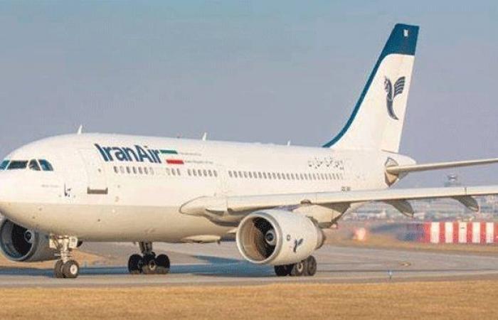 وصول الطائرة الايرانية الى مطار رفيق الحريري