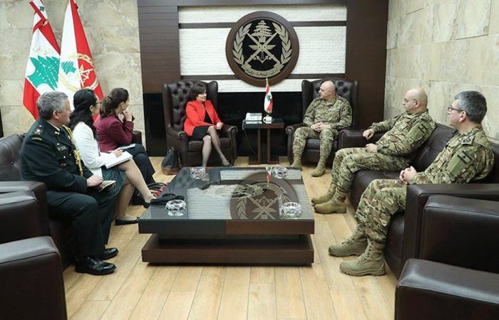 قائد الجيش التقى سفيرة شؤون المرأة والسلام والأمن