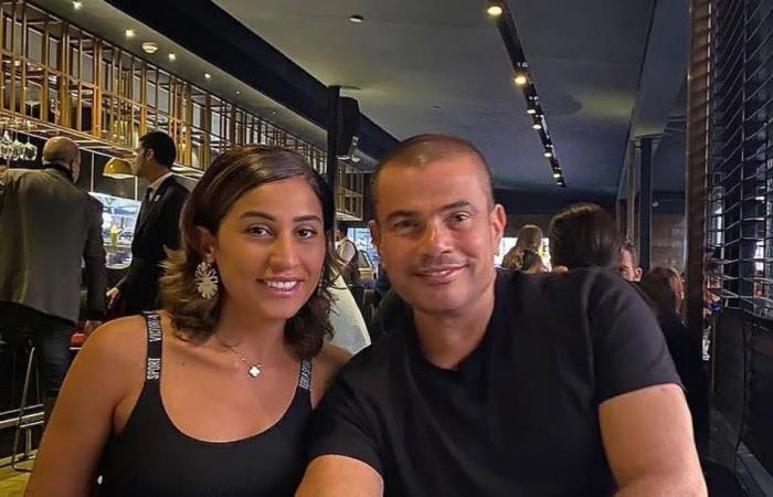 علاقة عمرو دياب ودينا الشربيني تتخطى الخجل بعد ظهورهما بهذه المناسبة!