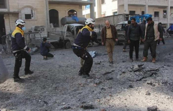 سوريا   إدلب : عشرات الشهداء والجرحى بانفجار هز المدينة
