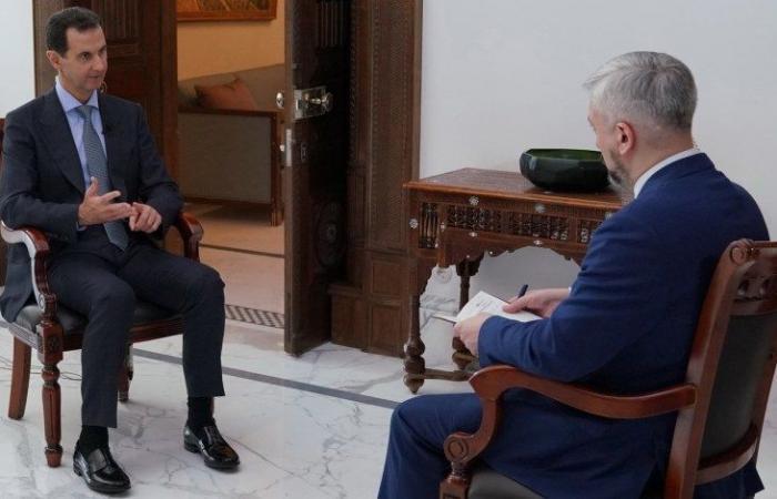"""سوريا   وسائل إعلام روسية : """" الأسد يشن هجوما حادا على أردوغان ويكشف عن أمر مفاجئ بخصوص الدول العربية """""""