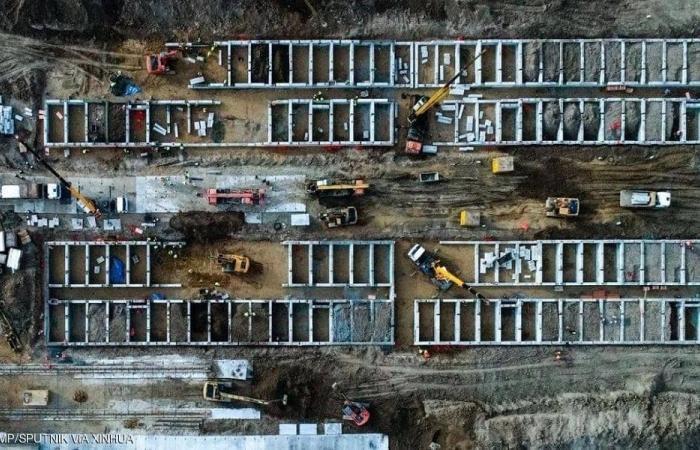 روسيا على خطى الصين.. تشييد مستشفيات في أيام