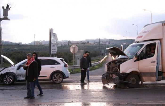 فلسطين | إصابة 3 مواطنين في حادث سير عند مفرق تقوع