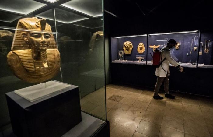 مصر | بالصور.. تعقيم مومياوات في المتحف المصري بسبب كورونا